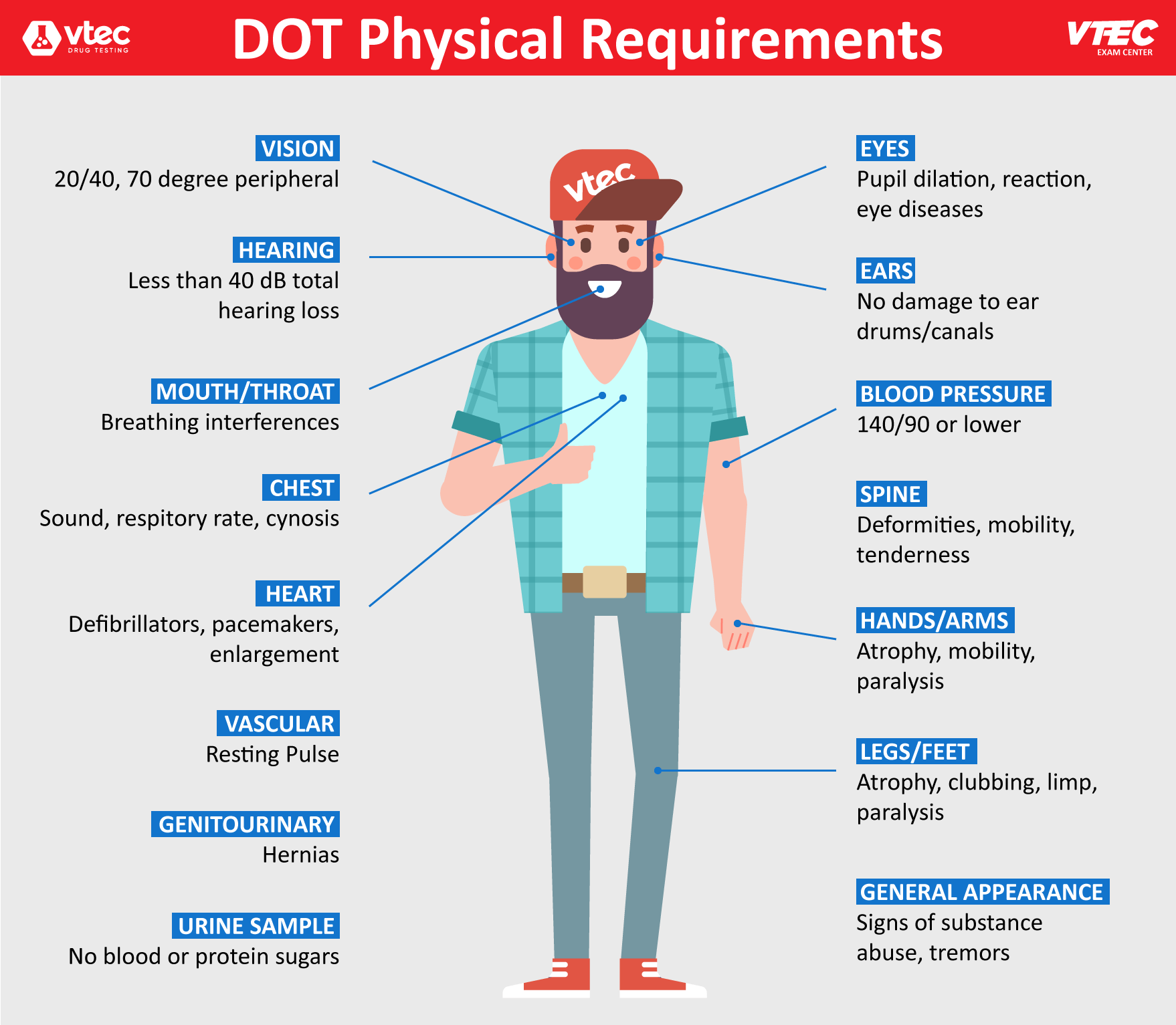 dot physical exam requirements